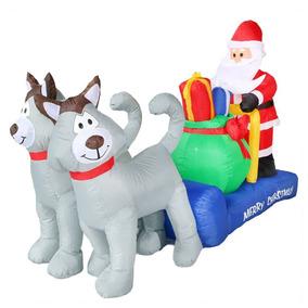 Inflable Navideño Santa Claus Con Trineo