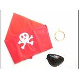 Disfraz Set Pirata Parche Aro Pañuelo Accesorio Halloween