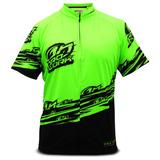 Camisa Ciclismo Bike Bicicleta Pro Tork Line 1 Verde Preto