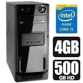 Pc Cpu Intel Core I5 4gb Ram Hd 500gb Novo Top De Linha.