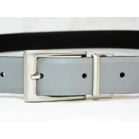 Cinturon 100% Piel Genuina Leather Azul Cafe Blanco Tinto