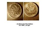 Un Cuarto Morocota De Oro Año 1881