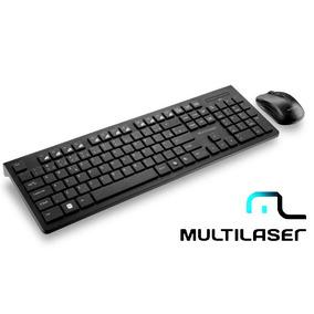 Kit Teclado Multimidia + Mouse Wireless Sem Fio Multilaser