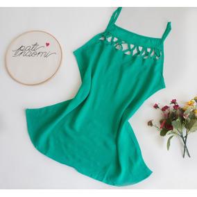 Regata Decote Trançado Moda Feminina Blusa Alcinha Blusinha
