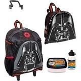 Mochila Star Wars Rodinhas Darth Vader Tam G + Lancheira