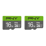 Pny 16gb 2-pack Elite Microsd Card (p-sdu16x2u185el-ge)