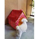 Casa Portátil Para Mascota - Diseño Ladrillo