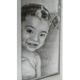 Retrato Personalizado A Lápiz Media Carta (21.6x13.9cm)