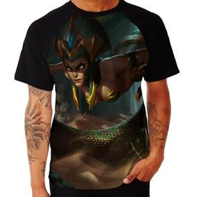 Kit 03 Camisa Camiseta Campeao Cassiopeia League Of Legends