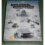 Velozes E Furiosos Box Blu-ray 8 Filmes Novo - Frete Grátis