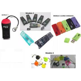 Leitor Cartão Memória - Micro Sd Adaptador Usb Kit 20 Peças