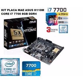 Kit Placa Mae Asus H110 Core I7 7700 8gb Ddr4 Ssd 240gb Gab
