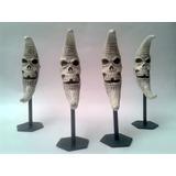 Figura Muñeco Esqueleto Calavera Craneo Luna Skull Resina