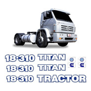 Kit Adesivo 18-310 Titan Tractor Caminhão Volkswagen Cummins