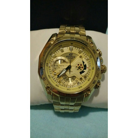 13435609812 Casio Edifice Wr100m Dourado - Relógio Casio Masculino no Mercado ...