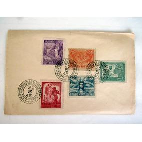 Envelope Com Série Completa 5 Selo Vitória Dos Aliados 1945