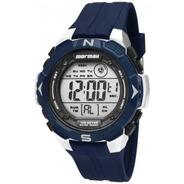 Relógio Digital Masculino Azul Mormaii Borracha Mo2908/8a