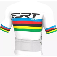 Camisa Ciclismo Mtb Ert Elite Campeão Mundial Branco +brinde