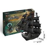 Rompecabezas 3d Venganza De La Reyna Anna Barco Pirata