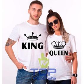 Franelas De Enamorados King Queen Pareja Novios San Valentín