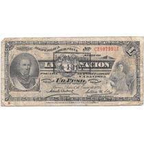 Billete 1 Peso La Nacion Año 1897 Brown Bueno