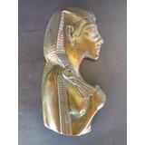 Bela Figura Egipcia Em Metal Dourado Antigo. Peca Do Egito.