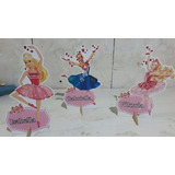 Barbie Bailarina 3 Display Personalizado De 21 A 28 Cm