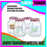 Papel Adhesivo Transparente Apto Inkjet A4 X 20 Hojas