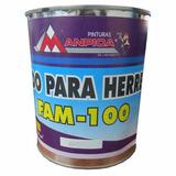Fondo De Herreria Anticorrosivo 1/4 Galon Negro Manpica