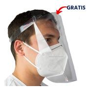 Cubrebocas Kn95 + Careta Protectora Facial Lavable
