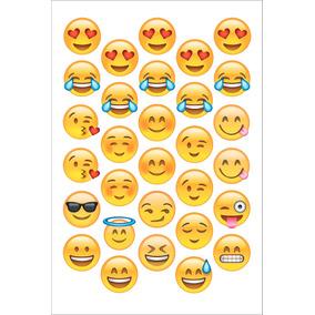 30 Adesivos 4cm Emojis Emoticons Whatsapp Frete R$ 10,00