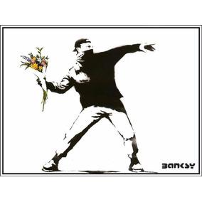 Poster Grafite Banksy 60x80cm Arte Urbana Decoração Moderna