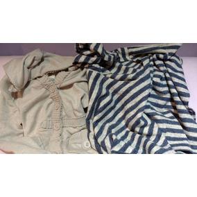 Dos Poncho Rebozo Sweater Chal Billabong Beige Rayas Azul