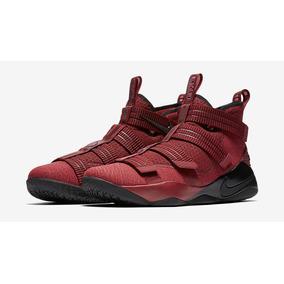 Lebron Soldier Xi 11 Nuevos Originales Nike Rojo Vino