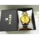 Reloj Rolex Hombre Daytona Completamente Funcional Elegante!