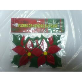 Figuras En Foami Flores De Navidad