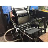Máquina Gráfica Heidelberg 1/8 Impressora Tipográfica