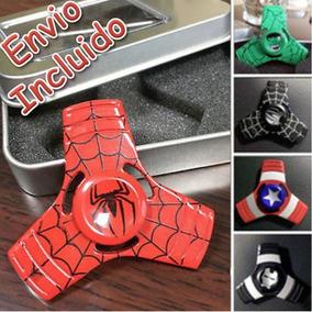 Spinner Metal Aluminio Capitan America Hombre Araña Ironman
