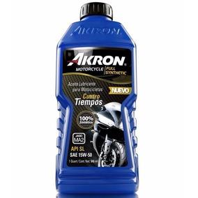 Aceite Akron Motos 4t 15w50 100% Sintetico 71-7004