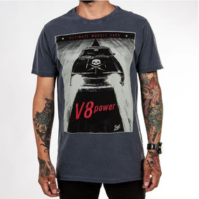 Camiseta Masculina Estampada Carro Motor - V8 Power