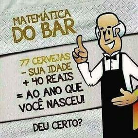 Adesivo Matemática Do Bar