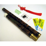 Kit Flauta China Bambú Dizi 5 Accesorios Clave Fa