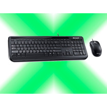 Combo Teclado Mouse Microsoft Wired 600 Usb Alambrico Xcel