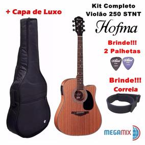 Violão Hofma Folk Elétrico Hmf-250 Fosco Kit Completo+brinde