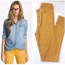 Pantalones Calce Perfecto Elastizado Tiro Alto Bengalina