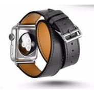 Pulseira Estilo Hermes Double Tour Apple Watch 42mm Preta