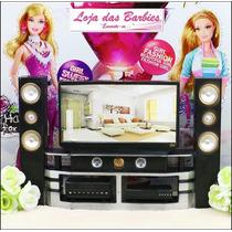 Tv * Som * Vídeo Para Sala Da Barbie * Casa De Bonecas