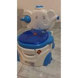 Baño Entrenador Elefante Infantil Músical Color Azul!!