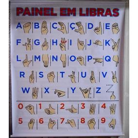 Painel Libras Para Aprendizado Da Linguagem De Sinais