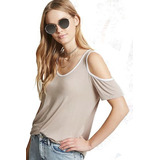 Remera Mujer Dia Talle M Hombros Descubiertos Forever 21